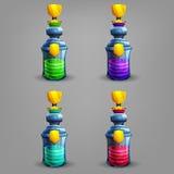 Bottles of potion. vector illustration