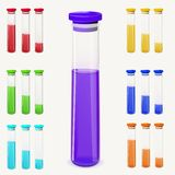 Bottles of potion. Vector illustration. Royalty Free Stock Photos