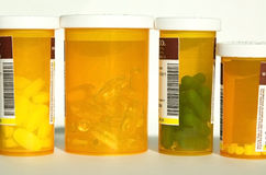 Bottles of Prescription Drugs Stock Photo