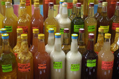 Bottles of punch Stock Photography