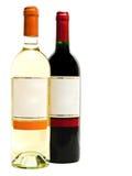 bottles röd vit wine Royaltyfria Bilder