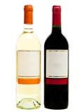 bottles röd vit wine Royaltyfri Foto