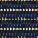 Bottles of red and white wine on dark blue background, seamless pattern. A lot of bottles of red and white wine on dark blue background, seamless pattern Stock Illustration