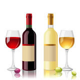 Red and white wine Stock Photos
