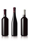 Bottles of red wine Royalty Free Stock Photos