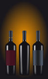 Bottles of red wine Stock Photos