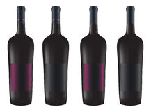 Bottles of red wine Royalty Free Stock Image