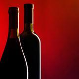 Bottles of red wine Royalty Free Stock Images