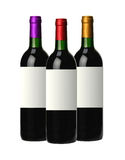 Bottles of red wine isolated on white Royalty Free Stock Photo