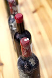 Bottles of red wine Stock Images