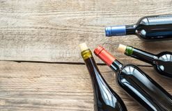 Bottles with red wine Royalty Free Stock Photography