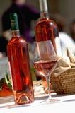 Bottles of ros  wine Royalty Free Stock Image