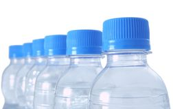 Bottles row 2 Royalty Free Stock Image