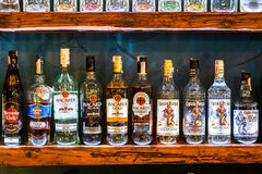 Bottles of rum Stock Photography