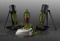 bottles sammansättning Arkivbilder