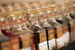 Bottles of scented oils Royalty Free Stock Photo