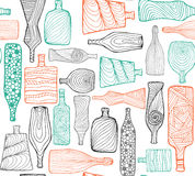 Bottles seamless colored Royalty Free Stock Photos