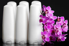 Bottles with shampoo Royalty Free Stock Images