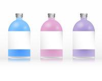 Bottles of shampoo Stock Image