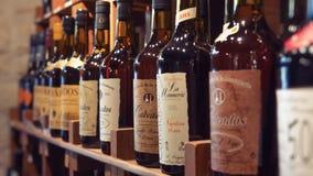 Bottles on the shelf. Stock Photos