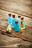 Bottles with shower gel Stock Images