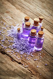 Bottles with shower gel Royalty Free Stock Photos
