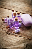 Bottles with shower gel Royalty Free Stock Images