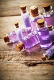 Bottles with shower gel Stock Photography