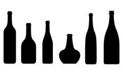Bottles silhouette Stock Image