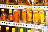 Bottles with snakes and scorpions stock image