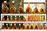 Bottles with snakes and scorpions Royalty Free Stock Image