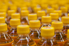 Bottles with soft drinks Stock Images