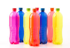 Bottles of soft drinks Royalty Free Stock Photos