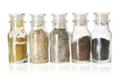 Bottles of Spices Royalty Free Stock Photos