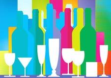 Bottles of spirits Stock Images