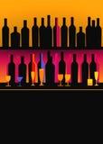 Bottles of spirits stock illustration