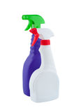 Bottles sprayer for cleaning isolated. Royalty Free Stock Photos