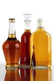 Bottles of strong spirits. Stock Photo