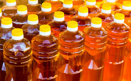 Bottles of sunflower oil Royalty Free Stock Photography
