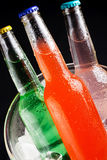 Bottles with tasty drink Royalty Free Stock Photos