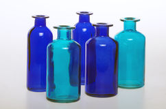 The bottles and their glass trasparency Royalty Free Stock Image