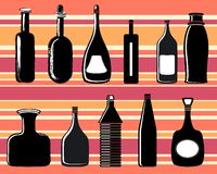 Bottles, vector Stock Photography