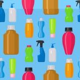 Bottles vector household chemicals supplies cleaning housework plastic detergent liquid domestic fluid bottle cleaner. Pack illustration. Sanitize soap kitchen Stock Photo