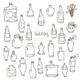 Bottles vector set Royalty Free Stock Images