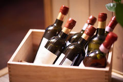 Bottles of vine Royalty Free Stock Photo
