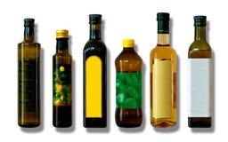 Bottles for vinegar and oil Stock Photo