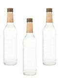 Bottles of vodka isolated Royalty Free Stock Images