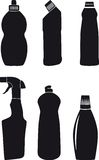 Bottles for washing-up liquids. A vector illustration. It is isolated on a white background Stock Photo