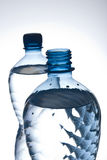 Bottles of water. Two bottles of mineral water Royalty Free Stock Photography