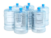 Bottles of water. Plastic bottles of clean water. Objects isolated over white Stock Photo